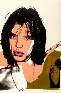 Mick Jagger IV A1 by Andy Warhol High Quality Canvas Art Print