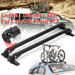 105cm Universal Aluminum Roof Rack Cross Bar Luggage Carrier Car 4DR 4x4 SUV Van