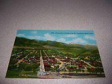 1940s Panorama Town-View Salida Colorado Linen Postcard