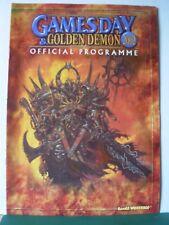 Warhammer 40k Fantasía gamesday 2002 programa Rare fuera de imprenta
