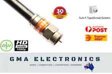 RG6 Quad Shield F-Type Coax Cable Digital TV Antenna Foxtel Telstra Modem Lead