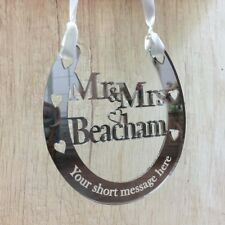 Wedding Horseshoe Mr and Mrs Personalised Bridal Gifts Lucky Good Luck Keepsakes