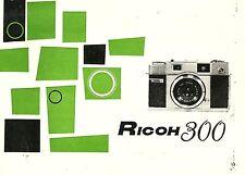 Ricoh 300 Original Instruction Book - Riken Optical, Printed in Japan