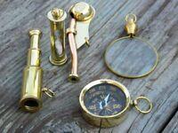 VINTAGE BRASS DESIGNER ANTIQUE KEY CHAIN KEY RING COLLECTIBLE Set Of 5 Pcs GIFT