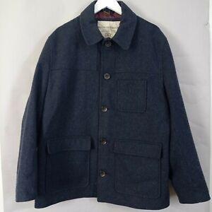Rocha John Rocha Mens Military Jacket XL Navy Blue Wool Blend Utility Parka