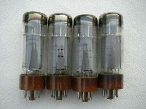 Two pair of riginal Valvo tubes EL34 brown base, DD getter, 100% condition