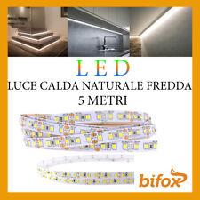 STRISCIA 600 LED 2835 STRIP 45W 12V 5 MT SMD BOBINA ADESIVA LUCE ALTA LUMINOSITA