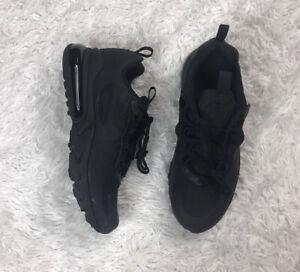 Nike Air Max 270 React GS Black Running Shoes BQ0103-004 Size 5.5Y / Womens 7