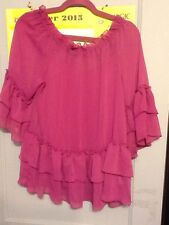 Allen B. By Allen Schwartz JCP Out On The Town Ruffle Sheer Shirt & Tank Large