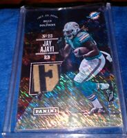 JAY AJAYI 2017 Panini Father's Day Used Football with Partial NFL Logo Patch /15