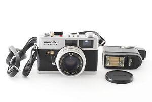 [Exc+5] Minolta HI-MATIC E 40mm F1.7 Film Camera w/natinal203 from japan a78