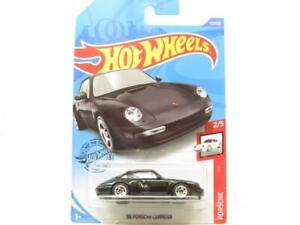 Hot Wheels 96 Porsche Carrera Black 72/250 Long Card 1 64 Scale Sealed New