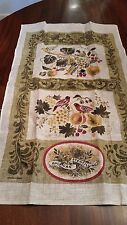 American Stenciling Linen Tea Towel New but May be Vintage