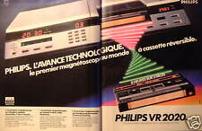 PUBLICITÉ 1981 MAGNÉTOSCOPE PHILIPS VR 2020 - ADVERTISING