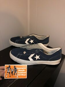 Converse Sneakers Deadstock Nos Vtg 70s Usa All Star One Stripe Suede Blue 11.5