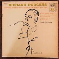 RICHARD RODGERS PHILHARMONIC SYMPHONY OF NEW YORK VINYL LP COLUMBIA CL810 EXC