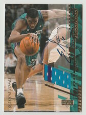 2000/01 UPPER DECK EDDIE JONES UD GAME JERSEY AUTOGRAPH ON CARD AUTO CARD #EJ-H