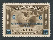CANADA C4 MINT NH , 6c OVERPRINT AIR MAIL, AIRPLANE