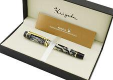 Kaigelu 316 Fountain Pen M Nib  , White Color Celluloid Signature Pen & Gift Box
