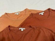 Men's 3 Pack James Perse Crew/V-Neck T-Shirt/Tee size L/XL MINT