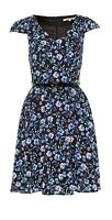Review Sz 8 Moonlit Dress Black/Multi + Blue Belt Brand New With Tags (BNWT)