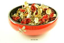 Laque & Incrusté De Bois Roun bol, desservant & Décoratif, Rouge, Large H001L