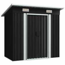 Garden Shed Anthracite Steel Tool Storage Carport House Garden Living Carports