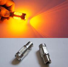 2x LED Bau15s 581 PY21W 7.5W 5 SMD Car Front Rear Turn Signal Bulb Yellow 12V