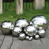 19-300mm Silver Mirror Garden Spheres Stainless Steel Gazing Hollow Balls Decor