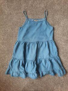 Gorgeous Next Strappy Denim Summer Dress age 9 New