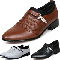 Mens Lace Up Oxfords Dress Tuxedo Formal Work Shoes Pointed Toe Patent Leather