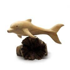 LESTARIE Delfin Delfine Delphin Delphine handgeschnitz Holz NEU Deko