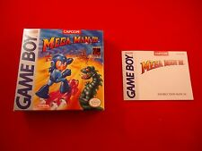 Mega Man 3 III Nintendo Game Boy Box and Manual ONLY (no game) Megaman