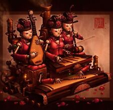 Court Band Chinese Steampunk Print by James Ng