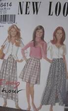 6414 Vintage NEW LOOK SEWING Pattern Misses Full Skirt 8-18 UNCUT FF OOP SEW FF