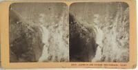 Gouffre Del Pont Spagna Francia Foto J.Andrieu Stereo Vintage Albumina c1868