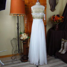 JOVANI Women's White & Gold Cocktail Gown Wedding Dress Size 2 | NWT $249 |