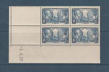 timbre France bloc de 4 coin daté   Niepce et Daguerre   num: 427  **
