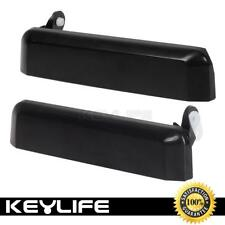2 New Outside Black Front Left+Right Door Handle For Nissan D21 Pickup 86-97 OB