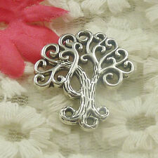 Free Ship 75 pieces Antique silver tree charms pendant 28x26mm H-4834