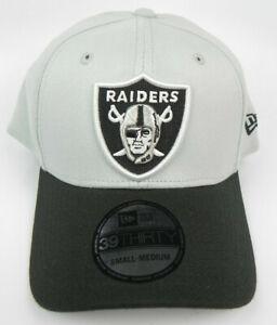 LAS VEGAS RAIDERS NFL NEW ERA 39THIRTY FLEX HAT 2-TONE 3930 CAP SIZE S-M NWT!