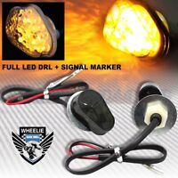 FULL LED SMOKED TURN SIGNAL INDICATOR LIGHT/SIDE MARKER 02-12 YAMAHA YZF R1/R6