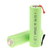 Green 2 PCS 1.2V AA 1800mAh Ni-MH Rechargeable battery use Electric Shaver razor