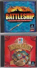 Two (2) Software CD-ROMs: Hasbro's Battleship (WIN 95) & Board Games (WIN 95/98)