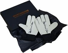 Bob Wilson SIGNED Pair Goalkeeper Gloves Autograph Gift Box Arsenal PROOF COA