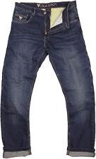MODEKA 5-Pocket Hose GLENN Motorrad Jeans blau Hose Denim Stretch Protektoren