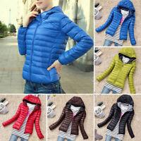 Women's Coat Ultralight Cotton-Padded Down Jacket Winter Warm Hooded Outwear