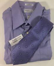 Van Heusen Poplin Lavender Purple Dress Shirt Silk Tie Men's 18 34/35 XXL NWT
