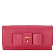 Prada Saffiano Leather Fiocco Continental Wallet - Ibisco