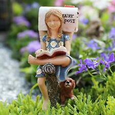 * Waiting on Mail * Miniature Fairy Garden 3″ Tall dog puppy Nib